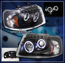 2003-2006 FORD EXPEDITION HALO PROJECTOR HEADLIGHTS BLACK 2004 2005 SPORT TRUCK