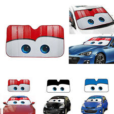 Cartoon Pixar Cars Lightning McQueen Front Auto Windshield Sun Shade Visor Cover