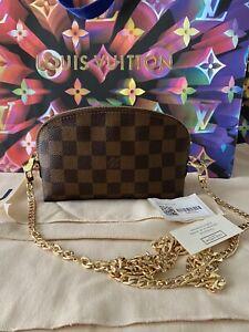 Authentic Louis Vuitton Cosmetics Pouch Damier Ebene