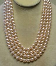 """JOAN RIVERS GOLD PLATED HAND KNOTTED 8mm PINK CZECH GLASS PEARL 62"""" NECKLACE NOS"""