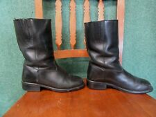 CRUISERWORKS BIKER BOOTS women 6 M BLACK LEATHER  WATERPROOF oil acid resistant