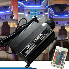 16W RGB LED Fiber Optic Star Ceiling Lights Engine Driver 24RF remote Controller