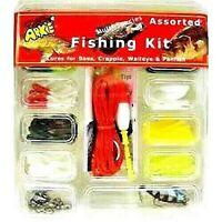 Arkie Jigs, Soft Body Tubes & Grubs with Hooks, Stringer & Bobbers Fishing Kit