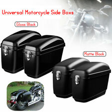 Pair Motorcycle Panniers Box Side Luggage Tank Hard Case Saddle Bags Cruiser UK