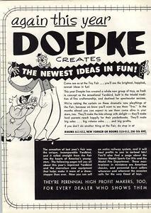 1956 PAPER AD 4 PG Doepke Toy Play Super Yardbird Railroad Gas Gasoline Model ++