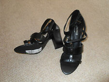 M&S Limited edition insolina - black strappy high heels - size 5.5