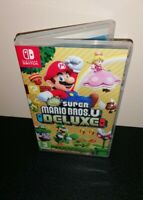 Super Mario Bros U Deluxe Nintendo Switch Case Only - NO GAME