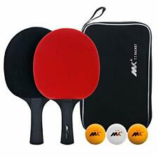 Table Tennis Racket,Ping Pong Paddle Set,Training Racquet Kit,with A-2pack