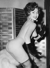 1960s Nude Alberto Vargas pin-up Black gloves and stockings 8 x 10  Photograph