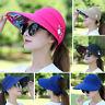 Ladies Sun Protective Hat Wide Brim Cap Visor Anti-UV Outdoor Beach Hat Summer