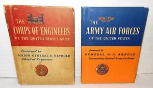 2-BOOKS Published in 1943 Public Education Corps of Engineers & Army Air Forces