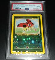 PSA 9 MINT Ledyba 7/18 Southern Islands REVERSE HOLO Pokemon Card