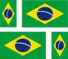 4x Adhesivo adesivi pegatina sticker vinilo bandera vinyl moto coche brasil
