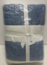 """Pottery Barn: Clarence Stripe Quilt Blue White New King/California King:108""""x92"""""""