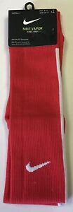 Nike Vapor Football Dri-Fit Knee High Socks Red White Men 8-12 Women 10-13