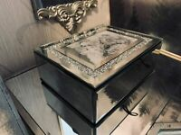 Luxury Crushed Crystal Mirror Box with Photo frame glass Jewellery Box Gift Home