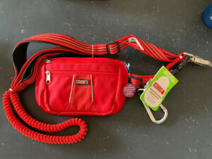 Kong Hands Free Dog Leash with Removable Pouch NEW RED