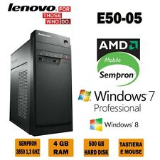 Lenovo E50-05, 1,3 GHz, AMD Sempron, HDD 500G,RAM 4G, OS WINDOWS 7/8.1 PRO,NUOVO