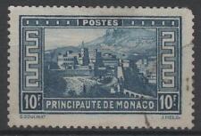 """MONACO STAMP N° 133 """" PALAIS PRINCIER 10F BLEU """" OBLITERE TB  N844"""