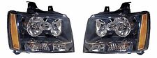 2007-2013 CHEVY TAHOE/AVALANCHE/SUBURBAN HEADLIGHT LAMP SET LEFT AND RIGHT PAIR