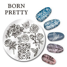 BORN PRETTY Nail Art Stamping Image Plate Stencil Butterfly Flower DIY BP-99