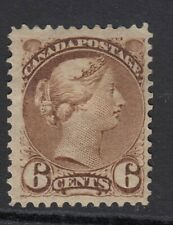 CANADA 1870-90 6c YELLOWISH BROWN SG86 - mounted mint