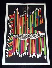 "1976 Original Cuban Movie Poster""Organo de Manzanillo""Musical Organ.Colorful art"