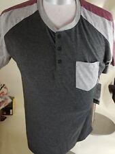 MTL Apparel Group Gray  Short Sleeve Button Shirt Mens Size Large