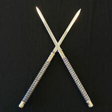 Silver Double Blade Japanese Ninja Daggers/Sword