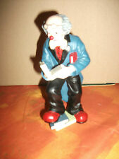 Gilde Clown - Bücherwurm   - ca. 17  cm hoch