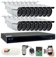 16 Channel DVR 16 5MP 1920p CCTV 2.8-12mm Varifocal Zoom Security Camera System
