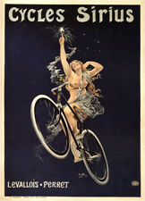 Cycles Sirius 1899 Vintage French Bicycle Poster Rolled Canvas Giclee 24x32 in.