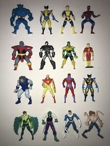 Vintage Toy Biz Heavy Metal Heroes! X-Men & Marvel Die Cast Figures Toy Lot 90's