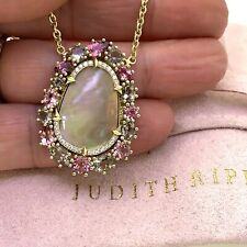 Judith Ripka Dimocha 18K Yellow Gold Diamond & Gemstone Pendant Necklace