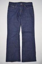 Banana Republic Dark Wash Blue Stretch Denim Boot Cut Jeans Sz 4S Short