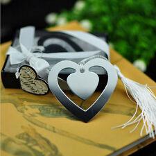 Lesezeichen Metall mit Herz Anhänger Liebe Buchzeichen Geschenkidee Herz C5K7