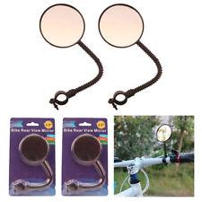 2 Bike Rear View Mirror Flexible Handlebar Glass Cycling Blind Spot Bicycle Safe