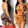Women Sleeveless Bandage Bodycon Evening Party Cocktail Club Short Mini Dress US