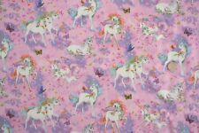 Pretty Princess Unicornios TELA FQ 50x56cm Nutex 89790-101 100% algodón