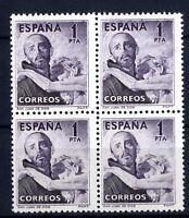 Sellos de España  Bloque de Cuatro 1 peseta 1950 San Juan de Dios 1070 nuevos