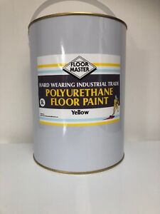 FLOOR MASTER GARAGE/WORKSHOP FLOOR PAINT 5LT YELLOW Used By the Professionals.