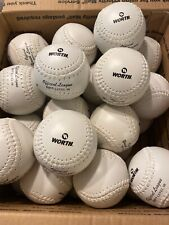 12New White Worth Official League Softball 11 inches Level 1 And Level 10 Mixed