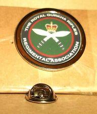The Royal Gurkha Rifles Regimental Association Lapel pin badge.