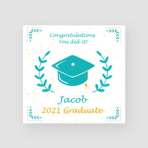 Personalised Handmade Mortarboard Graduation Card Son Grandson Grad For Him
