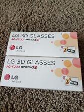 LG AG-F200 3D Glasses. Set of 2 lot