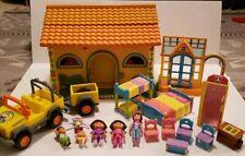 Dora The Explorer Pop-Up Talking Doll House Figures Furniture Deigo Jeep