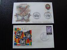 FRANCE - 2 enveloppes 1er jour 1976/1989 (liberte/journee du timbre) (B13)french