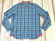 Para hombres Camisa Informal de cuadros azules Hugo Boss Etiqueta Verde Tamaño XXXL 3XL