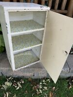 Antique Vintage Metal Hanging Cabinet