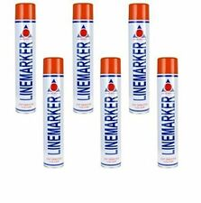 Aerosol Solutions Line Marker Marking Spray Paint x 6 in a box 750ml trade RED